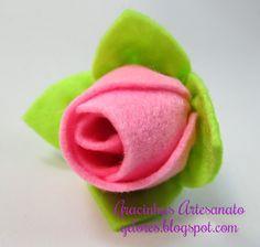 """""""Compartilhando passo a passos"""": Flores de Feltro"""