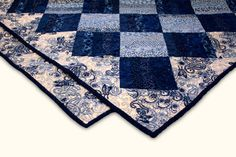 Blues and Paisley Lap Quilt