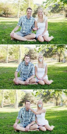 I love this gender announcement idea! So freaking cute