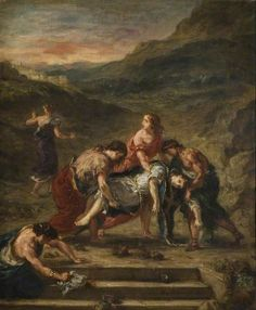 Saint Stephen Borne away by His Disciples - 1862 - Eugene Delacroix