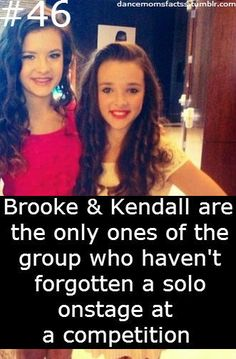 Brooke Hyland and Kendall Vertes facts Brooke Hyland and Kendall Vertes facts Dance Moms Moments, Dance Moms Quotes, Dance Moms Funny, Dance Moms Facts, Dance Moms Dancers, Dance Mums, Dance Moms Girls, Just Dance, Watch Dance Moms