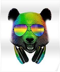 Dj Panda, Panda Bear, Wallpaper Backgrounds, Wallpapers, Electronic Music, Artwork, Animals, Bears, Community