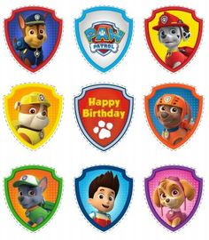 Funny Toppers for your Paw Patrol Party . You also can use them for making Labels or Banners , for example. Download the Paw ...