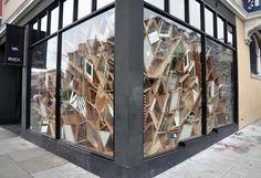 RVCA window display by Christopher Bettig, via Behance