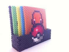 Customizable Pokeball Pokemon Coaster Holder Perler Bead door SDKD, $9.00