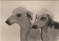 """Saatchi Art Artist Urszula Sakowska; Painting, """"Greyhounds"""" #art"""