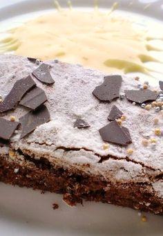 P@tty66 : Torta al cioccolato della Zu ..con crema al bombardino