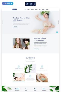 Every visitor will be happy to relax in your beauty salon after observing the website, built on this multipage HTML template. Design Web, Website Design Layout, Website Design Inspiration, Web Layout, Layout Design, Website Designs, Ui Inspiration, Graphic Design, Flat Design