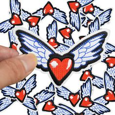 Diy patches for clothing iron embroidered Love wing patch applique iron on patches sewing accessories badge stickers on clothes -in Patches from Home & Garden on Aliexpress.com | Alibaba Group