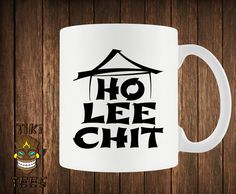Funny Coffee Mug Ho Lee Chit Chinese Custom Mugs Gift Geek Nerd Writing Asian Buffet Ninja Offensive Fun College Humor Joke Hipster Novelty. Order yours today at Boardman Printing. I Love Coffee, My Coffee, Coffee Cups, Tea Cups, Coffee Time, Funny Coffee Mugs, Coffee Humor, Funny Mugs, Thermos