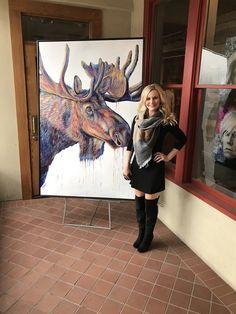 """Velvet Moose"" Original Acrylic Painting on Canvas Painting Available through Park City Fine Art (Park City, UT) Photo taken Sep 2017 Bull Moose, Moose Art, Wildlife Paintings, Acrylic Painting Canvas, Modern Art, Fine Art Prints, Original Paintings, Art Gallery, Velvet"