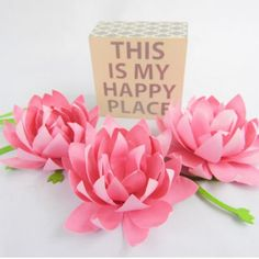 Learn to DIY these pretty paper lotus flowers.