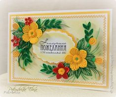 Quilling Flowers Tutorial, Paper Quilling Flowers, Neli Quilling, Quilling Cards, Quilling Designs, Quilling Ideas, Diy Paper, Invitation Cards, Gift Tags