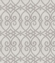 Home Decor  Print Fabric- Jaclyn Smith Gatework Rot Dove Gray, , hi-res