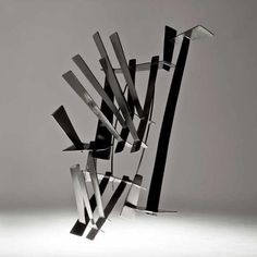 Rana Mikdashi Brooch: Leicester, 2008 Silver 925, black Rh plated 7 x 10 cm