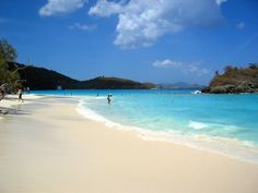 Trunk Bay in St, John's USVI is protected by the US National Park Service and is one of the best beaches in the Caribbean, famous for its underwater snorkeling trails.