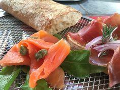 Ciabatta with smoked Salmon and Parma ham