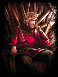 """The World of Ice and Fire - King Aenys I upon the Iron Throne. """" But though his father and brother, Maegor (who was Visenya's child), were both warriors born, Aenys was made of different stuff. He had begun life as a weak and sickly infant and..."""