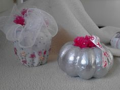 More painted pumpkins--but not so pink!