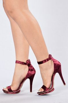 TNT Heel - Burgundy | Fashion Nova