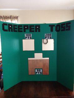 Minecraft game. Creeper toss. Minecraft birthday party!