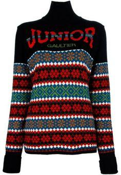 Jean Paul Gaultier Black Pattern Sweater