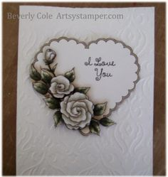 artsystamper: Valentine Roses from Fred, She Said