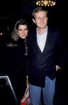 "Princess Caroline Attends a Performance of ""La Ronde"" - October 30, 1985. Princess Caroline and husband Stefano Casiraghi."