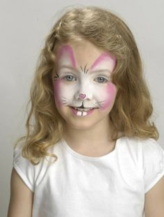 Easter bunny face paint