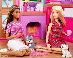 Cozying up by the fire sounds like the perfect afternoon. How do you wind down after a busy week? Shop the link in our bio! Barbie Doll Set, Barbie Sets, Doll Clothes Barbie, Vintage Barbie Dolls, Mattel Barbie, Barbie And Ken, Barbie Style, Barbies Pics, Made To Move Barbie