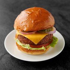 Žemle na burgery Hamburger, Ethnic Recipes, Food, Essen, Burgers, Meals, Yemek, Eten
