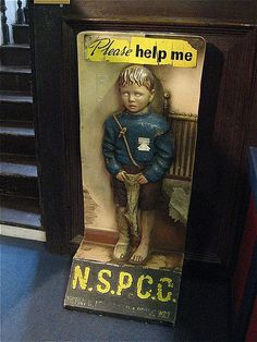 [creepy charity-box] NSPCC child, Durham - c.1960? Are You Being Served, Vintage Packaging, Packaging Design, Flotsam And Jetsam, High Street Shops, Effigy, Durham, Good Old, Old Pictures
