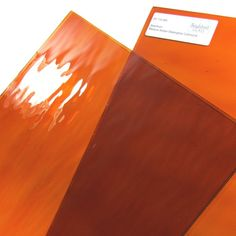 Spectrum Orange Rough Rolled Glass 12 x 12 Sheet 171RR