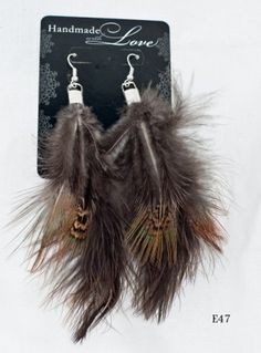 pheasant feather earrings  WOW