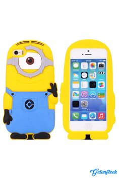 Despicable Me Minion 3D iPhone Case [iPhone 5, 5s, 6, 6 Plus] - Shop our entire collection at www.getonfleek.com