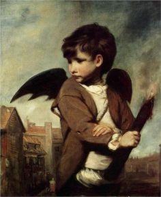 Cupid as a Link Boy - Joshua Reynolds http://www.wikipaintings.org/en/joshua-reynolds/cupid-as-a-link-boy