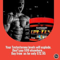 Blackstone Labs Epi-Test.....will help you get bigger stronger and give you that harddry look. Boosts your testosterone levels increases libido and blocks estrogen conversion. A must have for all the Alpha males!!. #preworkout #fitfam #fitspo #fitness #supplements #treadmill #nutrition #workout #shredded #getfit #weights #muscle #bodybuilding #fitspiration #cardio #ripped #gym #crossfit #training #exercise #weightraining #cutting #stack #sculpting