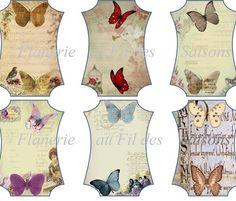 Cartonnettes papillons
