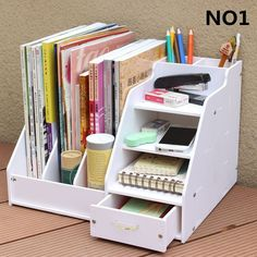 DIY office school supplies desk accessories stationery desk organizer file tray magazine makeup pencil organizer pen note holder - DIY Office School Supplies Desk Accessories Stationery Organizer File Tray Magazine makeup pencil O - Pencil Organizer, Diy Organizer, Desk File Organizer, Diy Storage Boxes, Home Office Organization, Makeup Organization, Office Storage, Organizing, Organizers