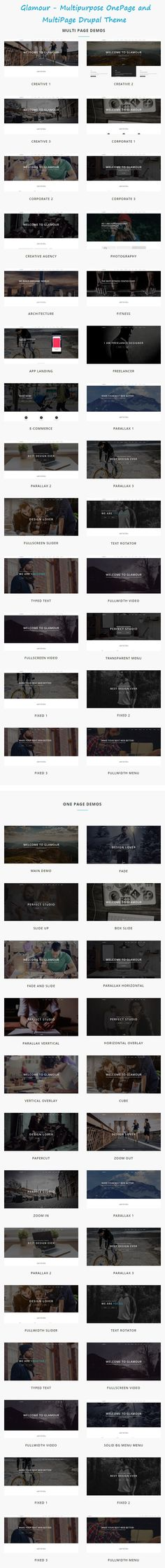 GLAMOUR is powerful multi page and one page #Drupal Theme for #multipurpose website with 60+ stunning homepage #layouts. Download Now!