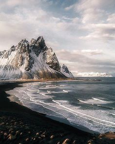 Icelandic Mountain Beach Sunset - Landscape Photography art prints by Michael Schauer. Stokksnes Icelandic Mountain Beach Sunset - Landscape Photography art prints by Michael Schauer. Travel Photography Tumblr, Photography Beach, Landscape Photography Tips, Framing Photography, Photography Ideas, Mountain Photography, Digital Photography, Photography Accessories, Photography Backdrops