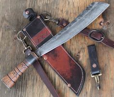 Wildertools by Rick Marchand Parang with wooden handle Knives And Tools, Knives And Swords, Knife Patterns, Best Pocket Knife, Pocket Knives, Fixed Blade Knife, Cold Steel, Custom Knives, Survival Knife