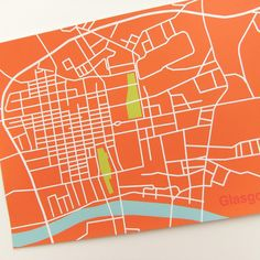 Glasgow City Map Art by peonyandthistle, via Flickr