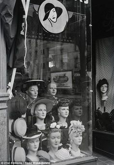 Hat shop, New York 1946