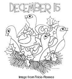 12 days of Christmas Embroidery Patterns