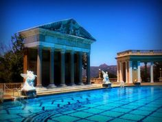 The Neptune Pool, Hearst Castle. California,  The pool, located at Hearst Castle, was originally constructed in 1920s for William Randolph Hearst,