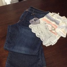lucky sweet n low jeans!! Lucky brand sweet n low jeans. Size 12/31 R  excellent condition. No tears or wear.  Comfortable pair of jeans Lucky Brand Jeans Flare & Wide Leg