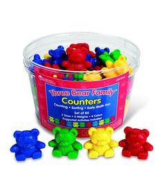 Three Bear Family Counters - Set Of 80