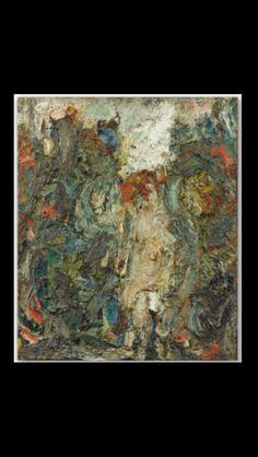 . Eugène Leroy - Sans titre, 1968 - Huile sur toile -  65 x 54 cm