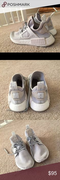 ab1260a4d Adidas NMD s White  amp  Grey Women s Adidas Shoes Sneakers Adidas Women